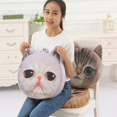 3D Detachable Sponge Padding Nekolus Shape Cartoon Sofa Cushion