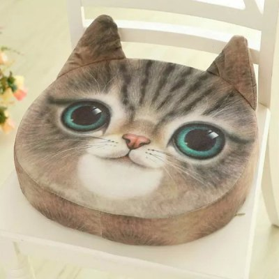 Removable 3D Sponge Padding Cat Shape Cartoon Sofa Cushion