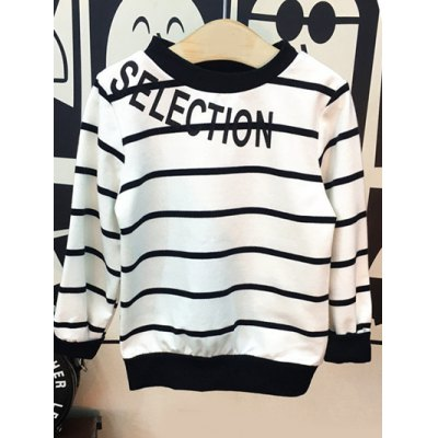 Letter Print Striped T-Shirt