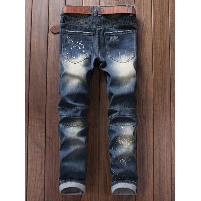 Paint Splatter Ripped Moto JeansMens Jeans<br>Paint Splatter Ripped Moto Jeans<br><br>Closure Type: Zipper Fly<br>Fit Type: Regular<br>Material: Jeans<br>Package Contents: 1 x Jeans<br>Pant Length: Long Pants<br>Pant Style: Straight<br>Waist Type: Mid<br>Wash: Destroy Wash<br>Weight: 0.8400kg