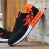 Buy Breathable Tie Colour Block Athletic Shoes 42 BLACK AND ORANGE