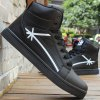 Buy PU Leather Colour Splicing Tie Casual Shoes 40