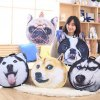 cheap Detachable Dog Animal  Shape Short Plush Sponge Padding Sofa Cushion