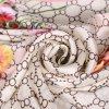 Casual Flower Round Mesh Satin Shawl Scarf photo