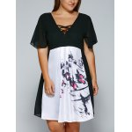 V Neck Backless Butterfly Dress