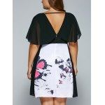 best V Neck Backless Butterfly Skater Dress