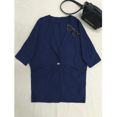 Loose 3/4 Sleeve Blazer