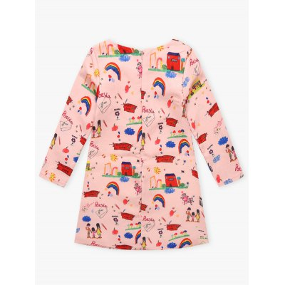 Kids Cartoon Print Mini DressGirls Clothing<br>Kids Cartoon Print Mini Dress<br><br>Style: Cute<br>Material: Polyester<br>Silhouette: Straight<br>Dresses Length: Mini<br>Neckline: Round Collar<br>Sleeve Length: Long Sleeves<br>Embellishment: Pattern<br>Pattern Type: Character<br>With Belt: No<br>Season: Fall,Spring<br>Weight: 0.183kg<br>Package Contents: 1 x Dress