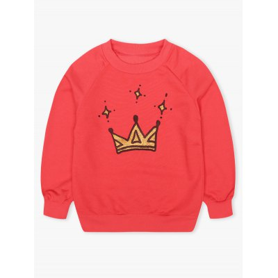 Kids Crown Print Sweatshirt + Mini SkirtGirls Clothing<br>Kids Crown Print Sweatshirt + Mini Skirt<br><br>Material: Polyester<br>Clothing Length: Regular<br>Sleeve Length: Full<br>Style: Casual<br>Pattern Style: Print<br>Weight: 0.289kg<br>Package Contents: 1 x Sweatshirt  1 x Skirt
