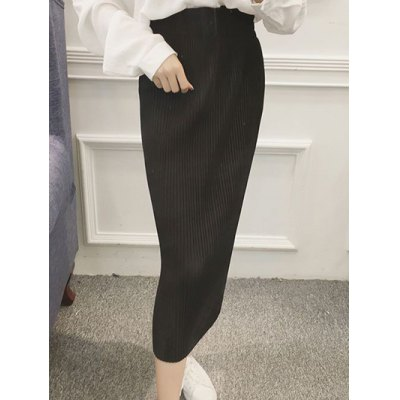 Pleated Tied-Up Belted Skirt