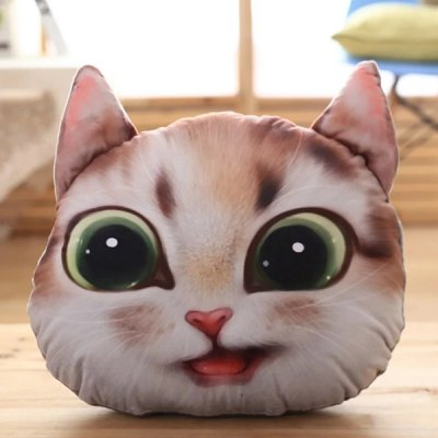 3D Nekolus Shape Short Cartoon Plush Pillow