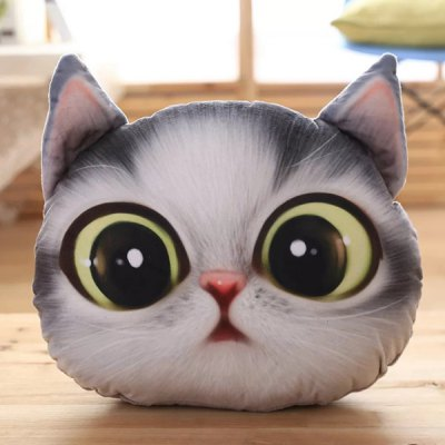 3D Big Eyes Cathead Shape Cartoon Detachable Sofa Pillow