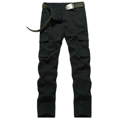 Zipper Fly Straight Leg Pants