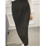 cheap Tied-Up Belted Pleated Skirt