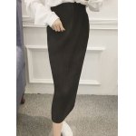 Tied-Up Belted Pleated Skirt