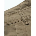 Plus Size Zipper Fly Pockets Design Drawstring Cargo Pants deal