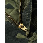 Plus Size Zipper Fly Camouflage Pockets Design Cargo Pants for sale