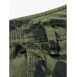 Plus Size Zipper Fly Camouflage Pockets Design Cargo Pants deal