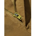 best Plus Size Straight Leg Embroidery Pockets Design Cargo Pants