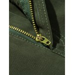 cheap Plus Size Zipper Fly Button Flap Pockets Design Cargo Pants
