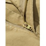 best Plus Size Straight Leg Zipper Pockets Design Applique Cargo Pants