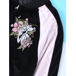 Long Sleeve Flower Embroidery Baseball Jacket for sale