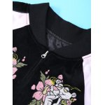 Long Sleeve Flower Embroidery Baseball Jacket deal