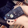 PU Leather Star Pattern Colour Block Wallet deal