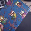 PU Leather Owl Pattern Color Splicing Wallet for sale