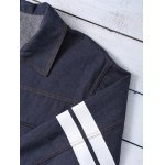 Letter Pattern Striped Loose-Fitted Jacket for sale