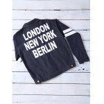 Letter Pattern Striped Loose-Fitted Jacket deal