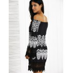 Off-The-Shoulder Laciness Paisley Casual Dress deal