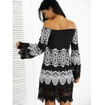 Off-The-Shoulder Laciness Paisley Dress for sale