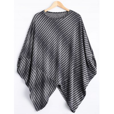 Striped Poncho Sweater