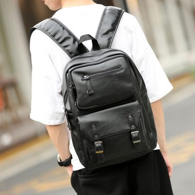 Zip Stitching Buckle Strap Backpack