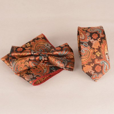 Ancient Paisley Jacquard Neck Tie Set