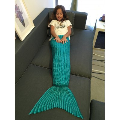 Super Soft Crochet Style Knitting Mermaid Tail Blanket For KidBedding<br>Super Soft Crochet Style Knitting Mermaid Tail Blanket For Kid<br><br>Material: Acrylic<br>Package Contents: 1 x Blanket<br>Pattern Type: Solid<br>Size(L*W)(CM): 105*80CM<br>Type: Knitted<br>Weight: 0.630kg