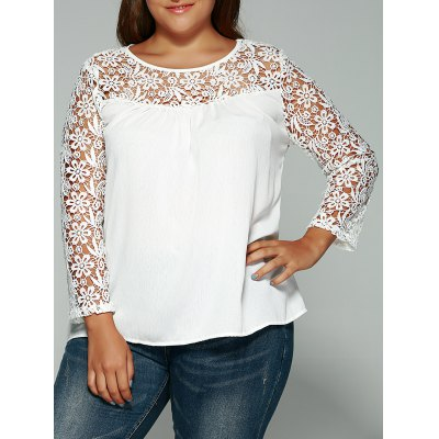 Cutwork Laciness Crossover T-Shirt