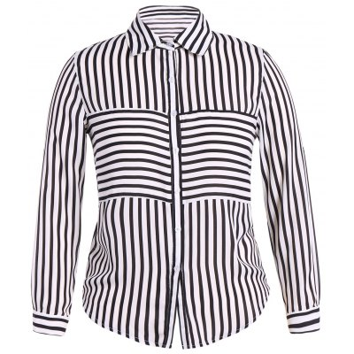 Plus Size Striped Shirt