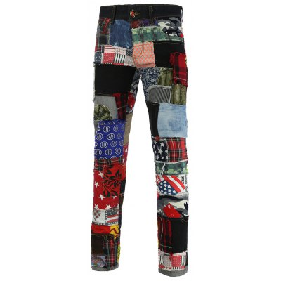 Zipper Fly Narrow Feet Jeans