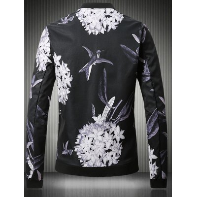 Stand Collar Plus Size 3D Flower and Bird Print JacketPlus Size Outerwear<br>Stand Collar Plus Size 3D Flower and Bird Print Jacket<br><br>Clothes Type: Jackets<br>Style: Fashion<br>Material: Cotton,Polyester<br>Collar: Stand Collar<br>Clothing Length: Regular<br>Sleeve Length: Long Sleeves<br>Season: Fall,Spring<br>Weight: 0.700kg<br>Package Contents: 1 x Jacket