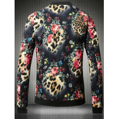 Stand Collar Plus Size 3D Flower and Leopard Print JacketPlus Size Outerwear<br>Stand Collar Plus Size 3D Flower and Leopard Print Jacket<br><br>Clothes Type: Jackets<br>Style: Fashion<br>Material: Cotton,Polyester<br>Collar: Stand Collar<br>Clothing Length: Regular<br>Sleeve Length: Long Sleeves<br>Season: Fall,Spring<br>Weight: 0.700kg<br>Package Contents: 1 x Jacket