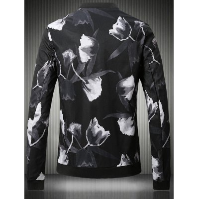 Stand Collar Plus Size 3D Rose Print Bomber JacketPlus Size Outerwear<br>Stand Collar Plus Size 3D Rose Print Bomber Jacket<br><br>Clothes Type: Jackets<br>Style: Fashion<br>Material: Cotton,Polyester<br>Collar: Stand Collar<br>Clothing Length: Regular<br>Sleeve Length: Long Sleeves<br>Season: Fall,Spring<br>Weight: 0.700kg<br>Package Contents: 1 x Jacket