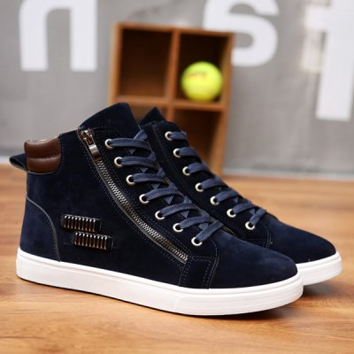 Tie Up High Top Casual Shoes