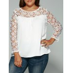 Laciness Cutwork Crossover T-Shirt