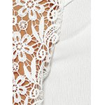 best Laciness Cutwork Crossover Backless T-Shirt