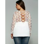 Laciness Cutwork Crossover Backless T-Shirt for sale
