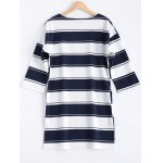 cheap Plus Size Asymmetrical Striped Dress
