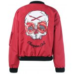 Skulls Letter Print Long Sleeve Jacket deal