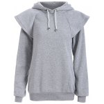Drawstring Cape Sleeves Pullover Hoodie
